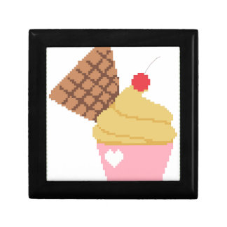 cupcake with a cherry on top small square gift box