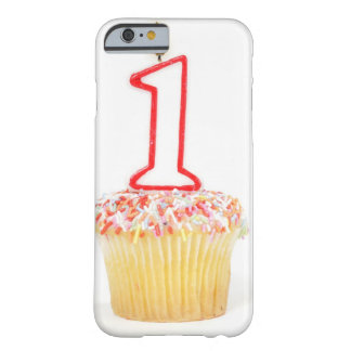 Cupcake with a numbered birthday candle 10 barely there iPhone 6 case