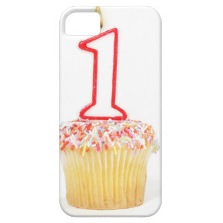 Cupcake with a numbered birthday candle 10 iPhone 5 cover