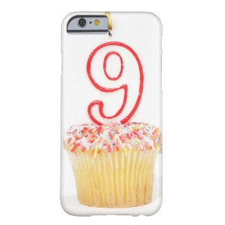 Cupcake with a numbered birthday candle 3 barely there iPhone 6 case