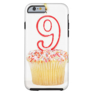 Cupcake with a numbered birthday candle 3 tough iPhone 6 case