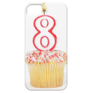 Cupcake with a numbered birthday candle 5 iPhone 5 cases