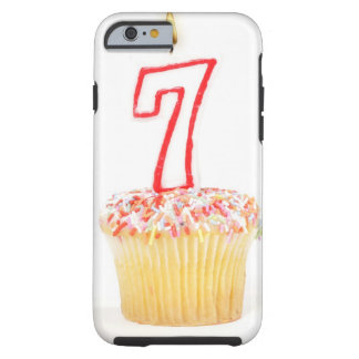 Cupcake with a numbered birthday candle 7 tough iPhone 6 case