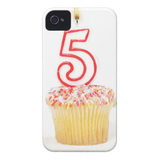Cupcake with a numbered birthday candle 8 iPhone 4 Case-Mate case