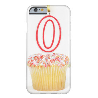Cupcake with a numbered birthday candle barely there iPhone 6 case
