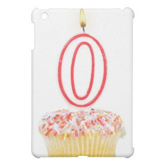Cupcake with a numbered birthday candle cover for the iPad mini