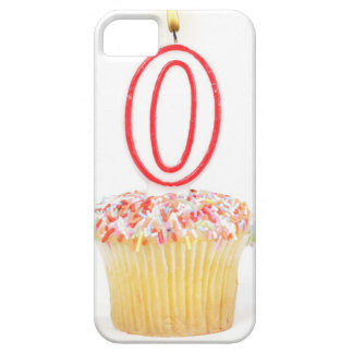 Cupcake with a numbered birthday candle iPhone 5 covers