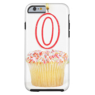 Cupcake with a numbered birthday candle tough iPhone 6 case