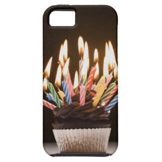 Cupcake with birthday candles tough iPhone 5 case