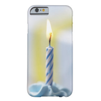 Cupcake with candle, close-up (focus on flame) barely there iPhone 6 case