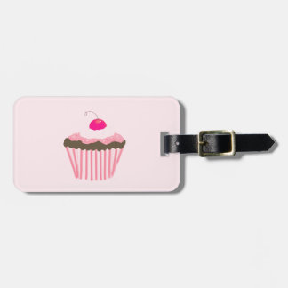 Cupcake With Cherry Luggage Tag