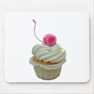 Cupcake with cherry mouse mat