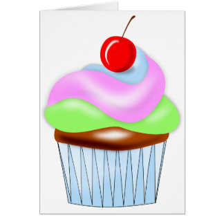Cupcake With Cherry On Top Note Cards