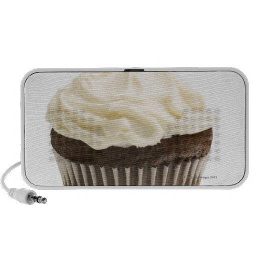 Cupcake with chocolate icing, studio shot 2 speaker