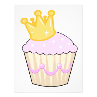 cupcake with crown flyer