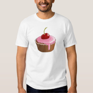 Cupcake with Pink Frosting and Cherry On Top Tee Shirt