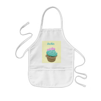 Cupcake with pink hearts kids apron