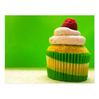 Cupcake with Raspberry Post Card
