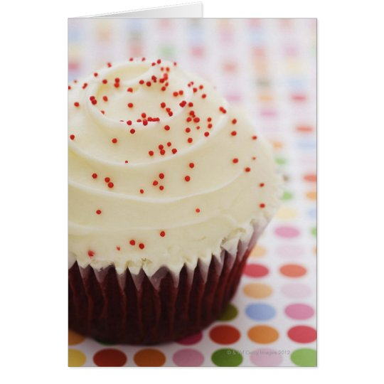 Cupcake with sprinkles card