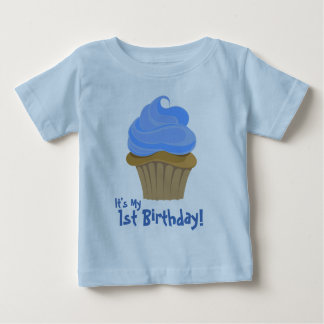 CupcakeBlue, It's My, 1st Birthday! Baby T-Shirt