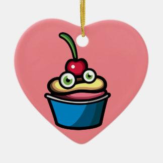 Cupcakemon Ceramic Heart Decoration