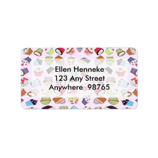 Cupcakes Address Label