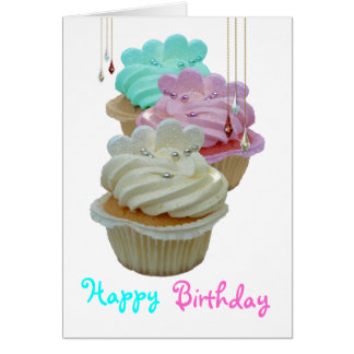 Cupcakes and beads card