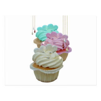 Cupcakes and beads postcard