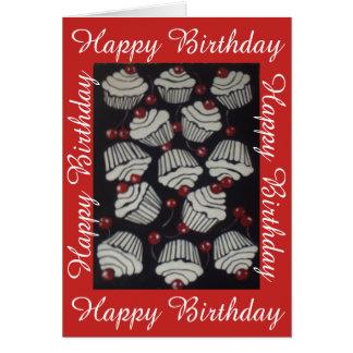 Cupcakes and Cherries, Birthday Card