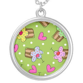 Cupcakes and Hearts Personalized Necklace