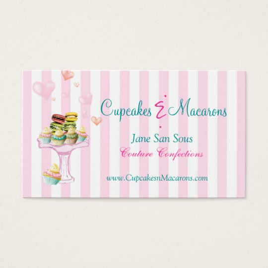 Cupcakes and Macarons Business Card