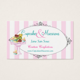 Cupcakes and Macarons Business Card