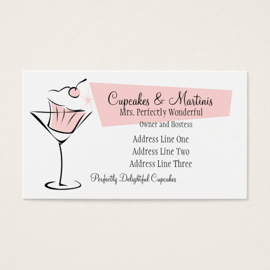 Cupcakes and Martinis Business Card