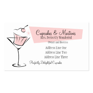Cupcakes and Martinis Business Cards