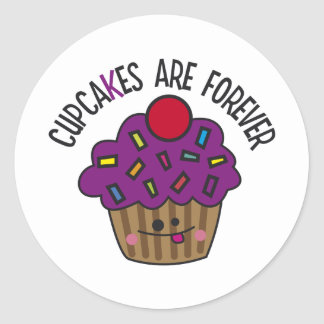 Cupcakes Are Forever Round Sticker