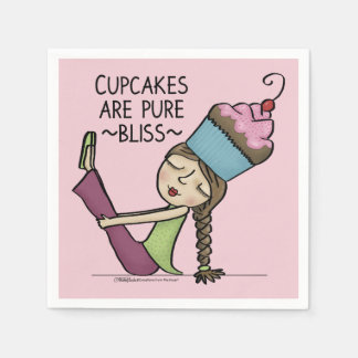 Cupcakes are Pure Bliss Paper Napkins