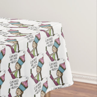 Cupcakes are Pure Bliss Tablecloth