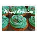 Cupcakes Birthday Photo Postcard