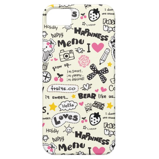 Cupcakes, bows, hearts, girly girl pattern. barely there iPhone 5 case