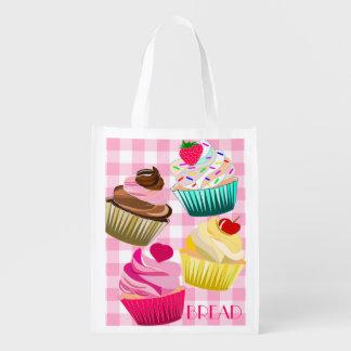 cupcakes bread shopping bag bakery shopping bag market totes