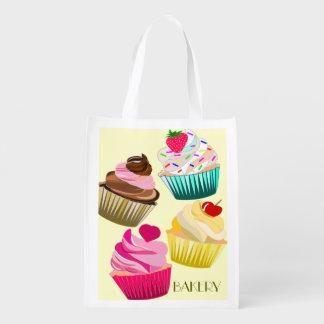 cupcakes bread shopping bag bakery shopping bag reusable grocery bags