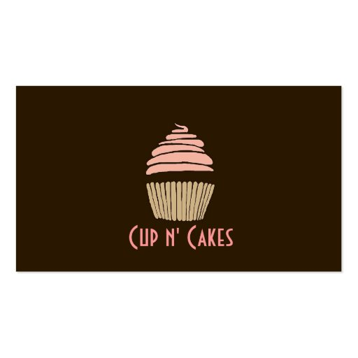Cupcakes, Cakes, Food, Catering, Bakery Business Business Card