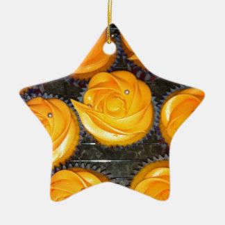 Cupcakes Ceramic Star Decoration