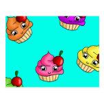 Cupcakes & cherries postcards