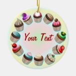 Cupcakes Colourful Circle Ornament