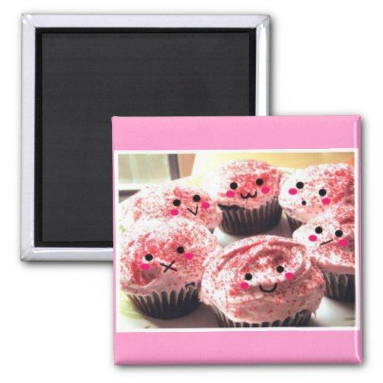 Cupcakes Crowd Square Magnet
