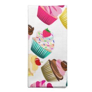 cupcakes, cupcake printed napkins