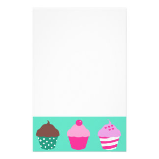 Cupcakes design personalized stationery