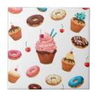 Cupcakes Doughnuts Tile