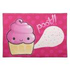 Cupcakes Fart Sprinkles Pink Placemat